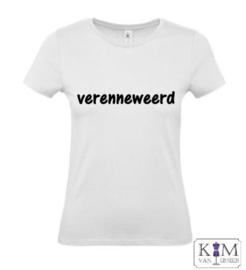 Dames T-shirt 'verenneweerd'