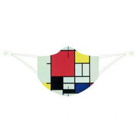 Piet Mondriaan mondkapje LOQI