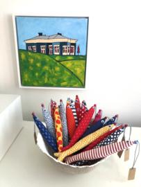 NIEUW Hippe haring / Lavendel vis by Judith Eshuis / Rood-tinten