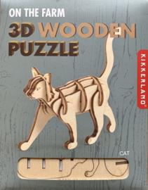 3-D wooden puzzle cat / Kikkerland