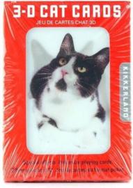 3D speelkaarten Katten