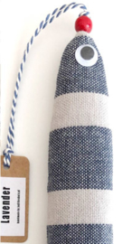 NIEUW Hippe haring / Lavendel vis by Judith Eshuis / Blauw-tinten