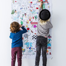 Maxi  kleurplaat - Op ontdekking in de stad
