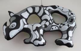 Niki de St Phalle - orginele opblaas neushoorn