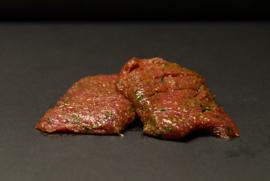 Gemarineerde biefstuk a 100 gram p/st 2 stuks