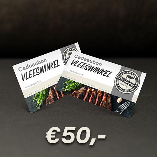 Cadeaubon De Ruijter Vlees €50