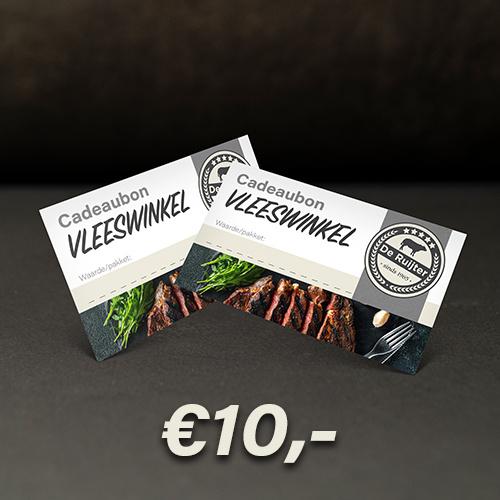 Cadeaubon De Ruijter Vlees €10