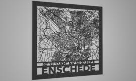 Stratenkaart met naam en coordinaten