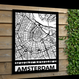 Tuin poster van een stadskaart