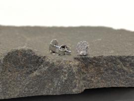 Zilver kleine oorringen