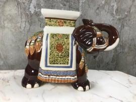 Vintage XL olifant bijzettafel  🐘