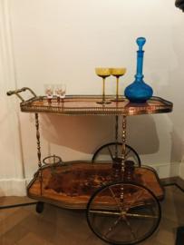 Vintage trolley bar kar cart theewagen, serveerwagen.