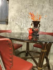 Set retro vintage eetkamerstoelen, stoelen, jaren 50/60.