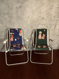 Nostalgie vintage kinderstoeltje, klapstoel, campingstoeltje