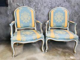 Set Franse Louis XVI stoelen, fauteuils.