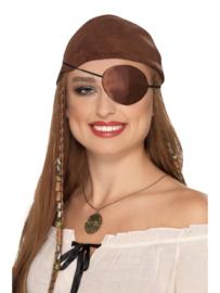 Pirate ooglap bruin