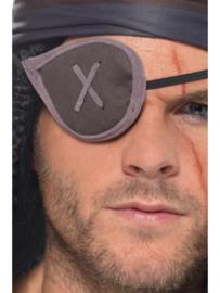 Pirate ooglap grijs