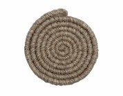 Wolcrepe lichtbruin grijs100cm