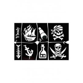 A5 stencil Pirates Y body