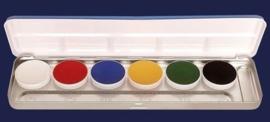Kryolan Aquacolor Palet – 6 kleuren