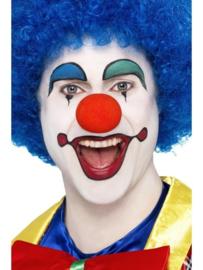 Clownspruik blauw