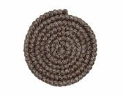 Wolcrepe donkerbruin grijs 100cm