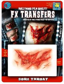 Uitbarstende keel 3D FX transfers