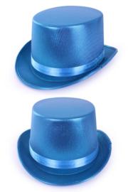 Hoge hoed metallic turqoise