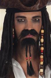 Snor en sik caribische piraat