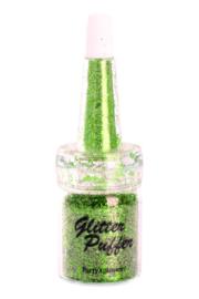 Glitter puffer Appel groen