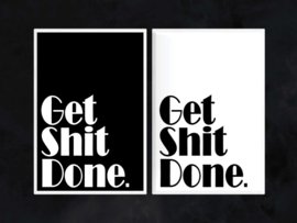 Get Shit Done - Toiletposter