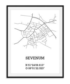 Plattegrond Sevenum - Lijntekening