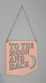 To The Moon houten bord