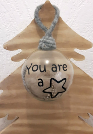 Kerstbal You are a star