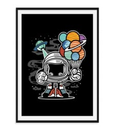 Space man in de ruimte - Poster