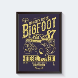 Big Foot monstertruck stoere poster