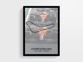 Circuit Monza Poster - Race win Ricciardo Norris