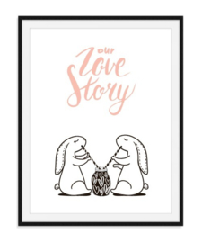 Our love story samen poster - nummer 14