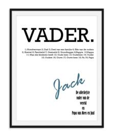 Vaderdag woordposter - Cadeautip