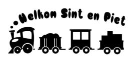 Raamsticker Welkom Sint en Piet - Trein