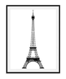 Eiffeltoren zwart wit - Poster