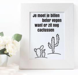 Cactus Toiletposter - Scandinavische stijl