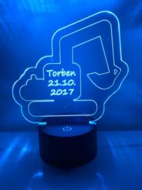 LED Lamp Kraan met Naam + Datum