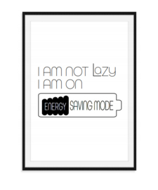 I am not lazy - Poster