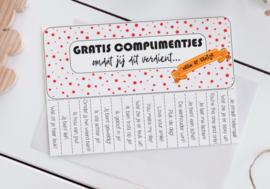 Gratis complimentjes - Poster v.a. A5 formaat