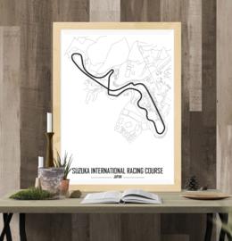 Suzuka International Racing Course Poster - Minimalistisch