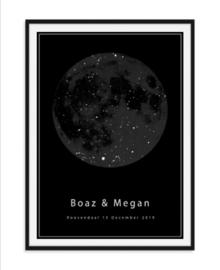 Sterrenposter met atmosfeer - Zwarte editie
