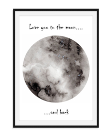 Love you to the moon - Poster