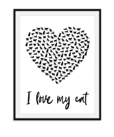 I love my cat - poster
