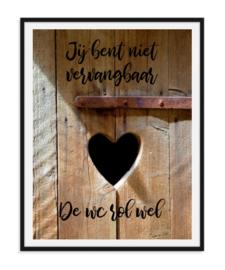 Jij bent niet vervangbaar - Poster